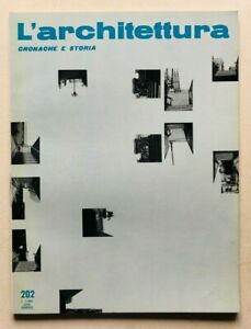 L'architettura cronache e storia 202 1972 Zevi Concorso zona direzionale Perugia