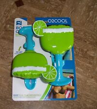One set of 2 Towel Boca Clips Tropical Margarita Glasses
