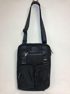 Tumi Alpha Organizer Crossbody Organizer Travel Pocket Tote Black