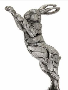 Natural world silver hare sculpture rabbit ornament figurine art present gift