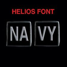Stainless Steel NAVY 2 Piece MC Club Biker Ring Set Helios font Custom size