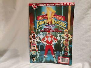 🤖 POWER RANGERS: official 1995 calendar magazine (slight crease in corner)
