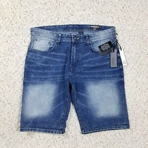 NEW Buffalo David Bitton Men's Evan-X Basic Distressed Wash Denim Jean Shorts