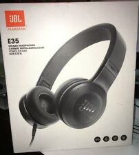 JBL E35 On-Ear Headphones with Pure Bass and mic  wired Black