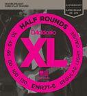 D'Addario ENR71-6 Half Rounds Bass, 6-String, Light 30-130 for sale