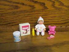 VINTAGE BARBIE BABY KRISSY BLONDE HAIR+ NEW OOAK CLOTHES + MINIATURE ACCESSORIES