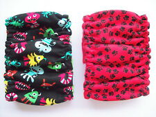 Dog Diaper MEDIUM Male 2 pcs Paws & Monster Belly Band Elastic Wrap 13 14 15 16