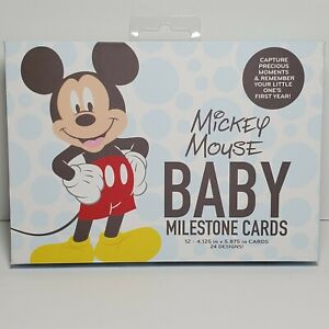 NEW Disney Baby Mickey Mouse First Year Milestone Belly Cards