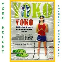 4x ORIGINAL YOKO HEIGHT INCREASER DEVICE GROW TALLER SUPER ITEM AT eBAY GBHFD345