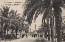 Tarjeta Postal. Alicante. Nº 34. Monumento a  Mártires de la Libertad.