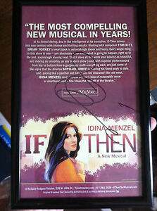 Idina Menzel ad/flyer signed autographed If/Then Frozen Wicked  and is framed