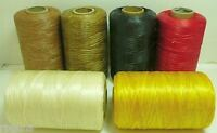 6 Rolls SINEW Sinue wax thread bead craft artificial beadwork fringe loom weave