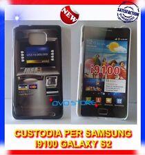 Custodia+Pellicola BACK COVER BANCOMAT per Samsung I9100 galaxy s2 plus I9105