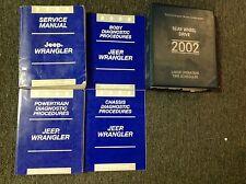 2002 JEEP WRANGLER Service Shop Repair Workshop Manual Set W Diagnostic + Labor