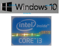 LAPTOP Intel inside Core i3 FREE WINDOWS computer sticker PC 10 Genuine 7 8 XP