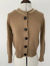 Burberry Cashmere-Blend Chain Detailed Cardigan, Camel S Size