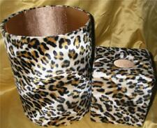 Leopard Fur Animal Skin Wastebasket & Tissue Cover New