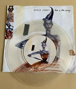 "GRACE JONES Love Is The Drug 7"" Clear Vinyl + Poster & Reg Pull Up To The Bumper"