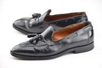 ALDEN X BROOKS BROTHERS 10D BLACK SHELL CORDOVAN TASSEL LOAFER DRESS SHOES 06600