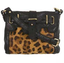 Miss Selfridge Real Leather & Pony Hair Leopard Print Bag