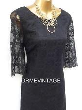 💜 New Monsoon Lorrie Black LaceTunic Dress sz 12  Wedding/Party/Cocktail