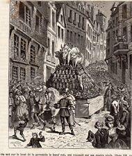 IMAGE 1878 ENGRAVING PARIS ELYSEE PLAFOND DU SALON DE LA PAIX GENIE DE SCIENCE