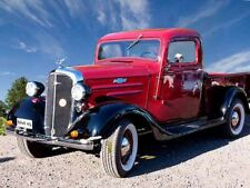 Vintage Pick Up Truck Red Photo Poster Print