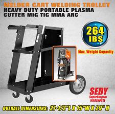 NEW Welding Trolley Welder Cart Storage Bench Mig Tig Arc MMA Plasma Cutter
