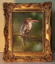 Original Ölgemälde Vogel Australien? signiert