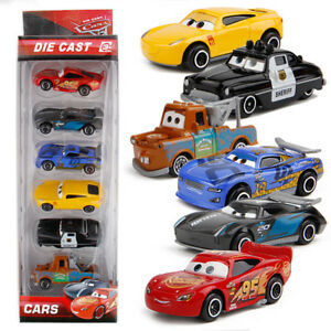 6pcs Disney Pixar Cars Lighting McQueen Mater Diecast Cars Kid Toy Set