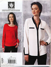 VOGUE SEWING PATTERN 1463 MISSES SZ 14-22 LOOSE-FITTING SHIRT/BLOUSE & TOP