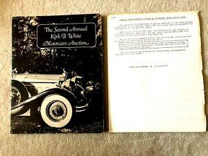 AUTOMOBILIA/SECOND ANNUAL KIRK F WHITE MOTORCARS AUCTION/1972/PACKARD/DUESENBERG