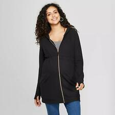 Maternity Zip Hoodie - Isabel Maternity by Ingrid & Isabel Black XS Xtra Small