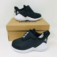 *NEW* Adidas Forta Run AC Toddler Kids Athletic Shoes Black Sneakers Slip On