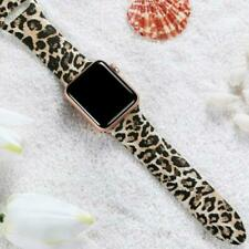 For Apple Watch Band Series 5 4 3 2 1 Leopard Print Silicone Sports Watch Band