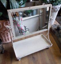 Bain Miroir dépôt De Maquillage métal style rustique ancien shabby chic NEUF