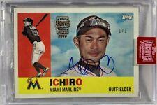 Ichiro Suzuki autograph signed Card 1/1 Miami Marling 2019 Topps Archives Series