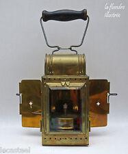 magnifique lanterne à signaux chemin de fer en laiton - lampe