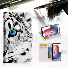 Leopard Wallet TPU Case Cover For Motorola Moto E4 -- A013