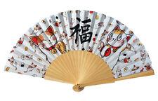 """Fächer """"Glückskatze"""" Handfächer Japan Dekoration Geschenk Sommer Maneki Neko süß"""