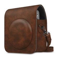 For Fujifilm Instax Mini 90 Camera Case Bag Cover with Removable Strap -Brown