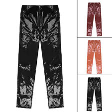 Women Ladies High Shine Vinyl PVC Wet Look Faux Leather Trouser Legging Pants
