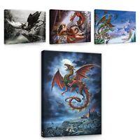 Leinwand Bild Wandbilder Canvas Bilder XXL Alchemy Drachen Gotik Abstrakt 77
