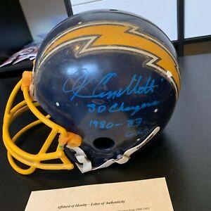 John Cappelletti Signed Game Used San Diego Chargers Helmet 1973 Heisman W/COA