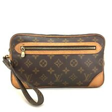 100% Authentic Louis Vuitton Monogram Marly Dragonne Clutch Hand Bag /10380