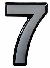3D Aufkleber Hotelzimmer Briefkasten Hausnummer 900060 in Silber 1x Nummer 7