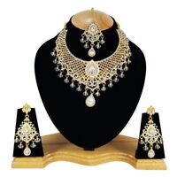 Indian Bollywood Style Fashion Gold Plated Bridal Jewelry Necklace Set, Style 20