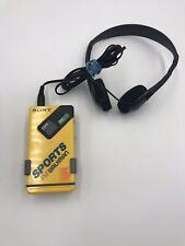 Vintage Sony Sports FM Stereo WALKMAN Model SRF-4 Sport Radio Tested Works