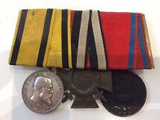 MEDAL WW1 GERMAN GROUP OF 3 -  WURTTEMBERG MVD + CROSS OF HONOUR + 9 YEARS SERV