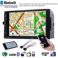 2Din 7 inch HD Car MP5 Player Bluetooth GPS USB AUX FM Radio Car Backup Monitor